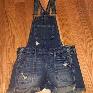 Boyfriend Short Overalls - Size XS